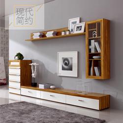现代简约个性电视柜组合客厅挂柜吊柜电视墙