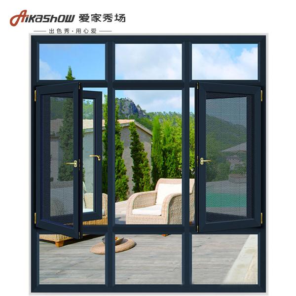 断桥铝窗纱一体 客厅阳台落地窗 钢化玻璃窗