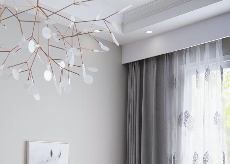 北歐灰色棉布窗簾 客廳臥室百搭窗簾