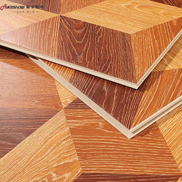 12mm特价强化复合木地板复古方块欧式别墅个性拼花地板高耐磨环保 已